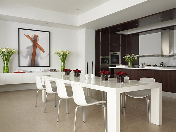 Modern Home Plans And Design Tips - kitchen and dining room minimalistic
